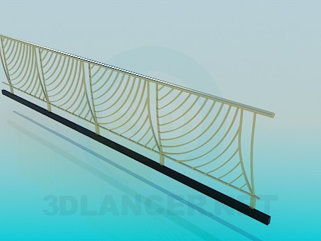 3d model Fence, 3ds, High-tech- Free Download | 3dlancer net