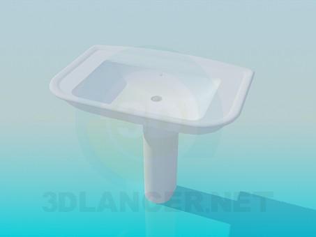 3d model Rectangular sink - preview