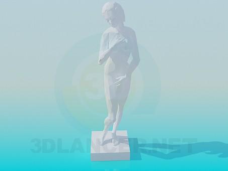 3d моделирование Гипсовая статуя модель скачать бесплатно