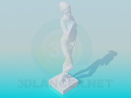 3d модель Гипсовая статуя – превью