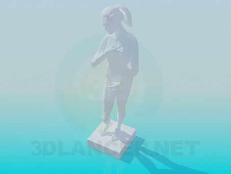 3d model Plaster statue - preview