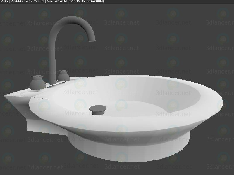 Lavabo 3d Dwg.3d Model Sink Lavabo