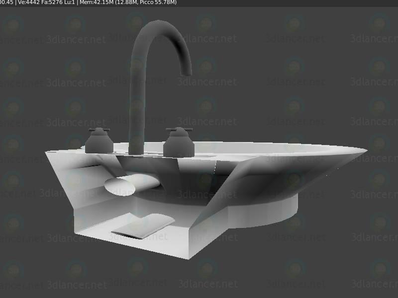 3d Раковина - Lavabo модель купить - ракурс