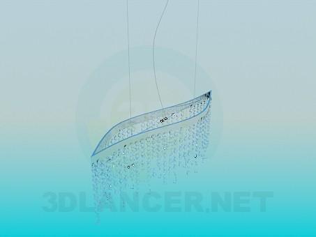 modelo 3D Lámpara chandelier de cristal - escuchar