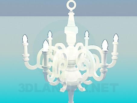 3d model Gentle chandelier - preview