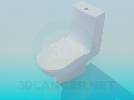 3d modeling Toilet with discharge tank model free download