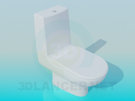 3d model Toilet with  discharge tank - preview