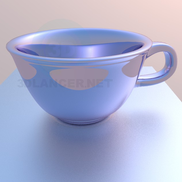 3d model cup - preview