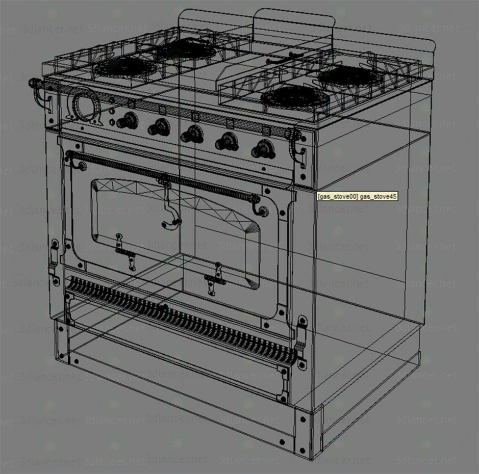 3d модель Газова плита вінтаж – превью