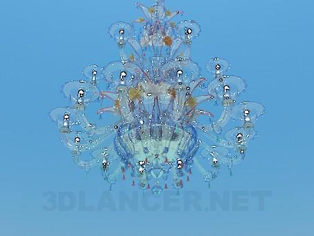 modelo 3D Lámpara de cristal multicolor - escuchar