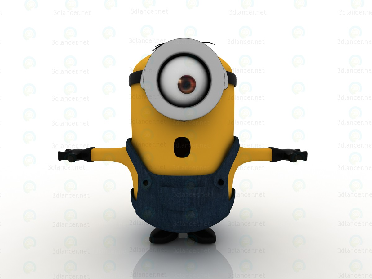 3d Minions-2015. Stuart-minion model buy - render