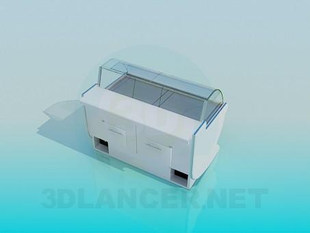 3d моделирование Прилавок-холодильник модель скачать бесплатно
