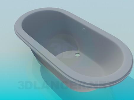 modelo 3D Baño común - escuchar