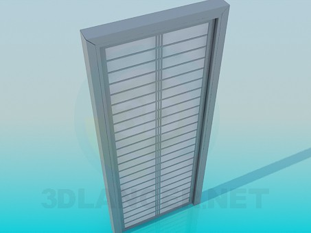 3d model Door with square - preview