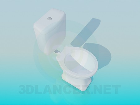 3d modeling Toilet with a tank model free download