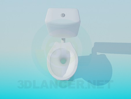 3d model Toilet with a tank - preview