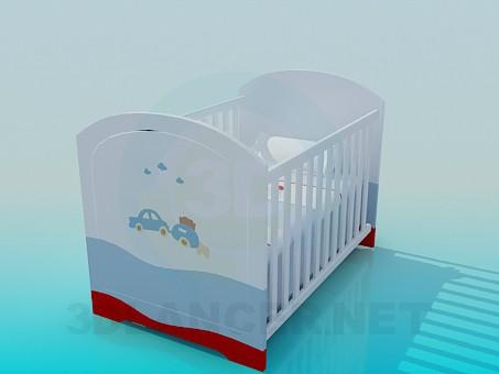 3d модель Ліжечко для новонародженого хлопчика – превью