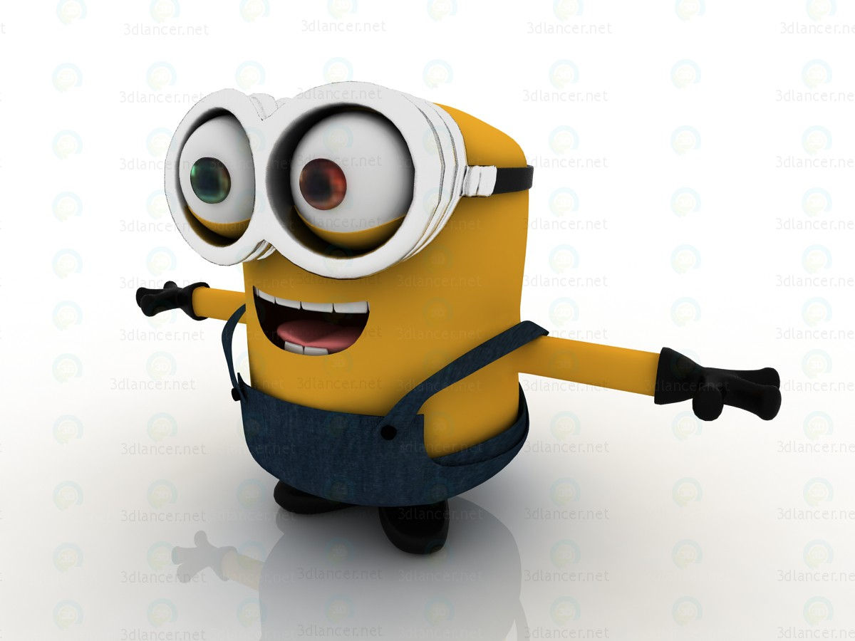 3d Minions-2015 Bob-minion model buy - render