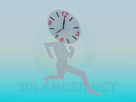 3d modeling Wall Clock model free download