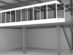 Balcony in the hangar