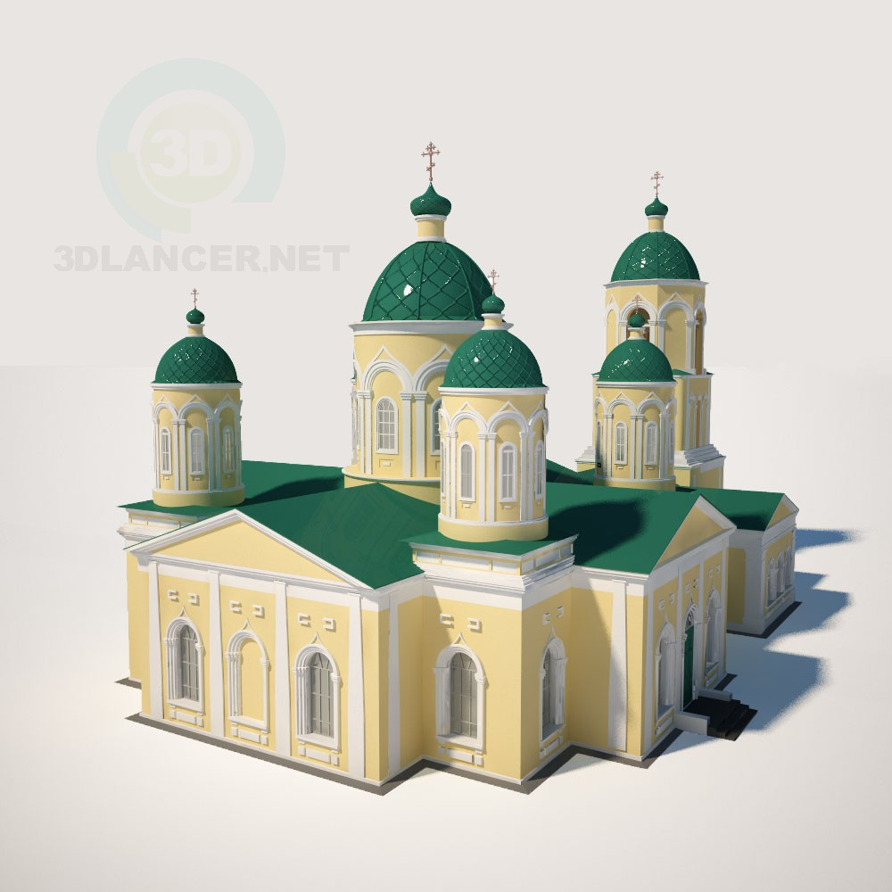 3d model Trinity Church of Mikhailovka in the Penza region - preview