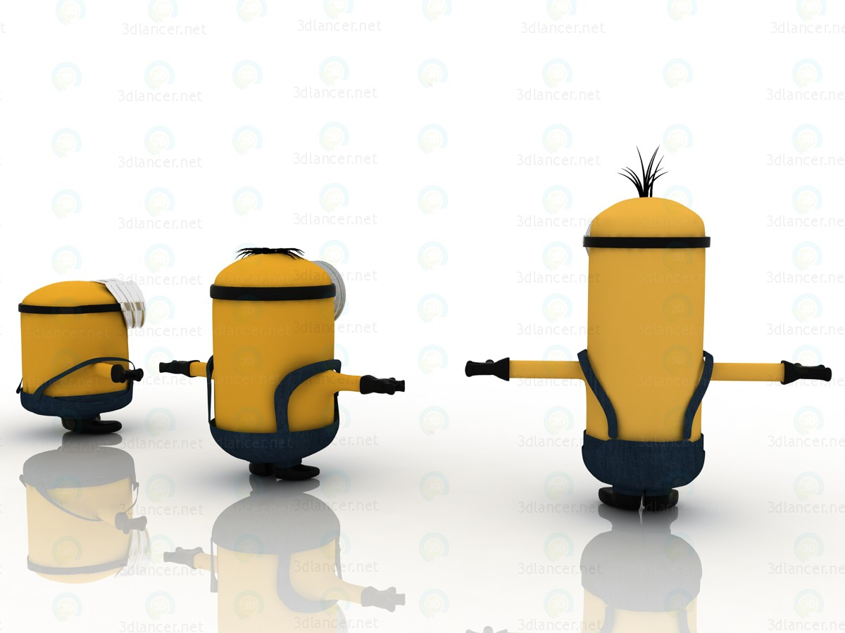 3d Minions-2015 Bob Stuart and Kevin together model buy - render