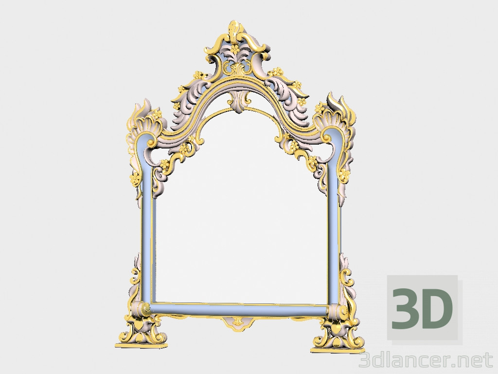 3d model mirror manufacturer asnaghi interiors id 18416 for Mirror 3d model