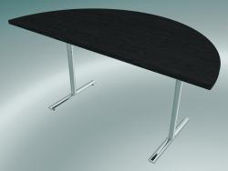 Table à pied en T Flip-top semi-circulaire (1500x750mm)