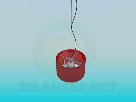 descarga gratuita de 3D modelado modelo Lámpara con pantalla