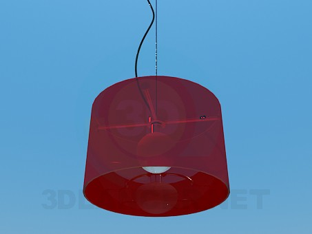 3d model Lamp with shade - preview