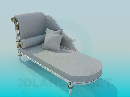 3d model Roman couch - preview