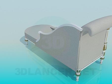 modelo 3D Sofá romano - escuchar