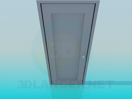 3d model Door with round handle - preview