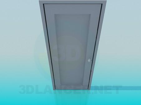 3d model Door with round  handle - preview