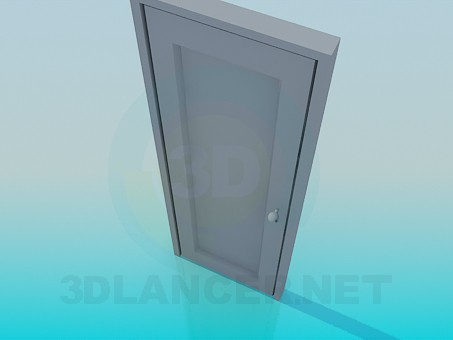 modelo 3D Puerta con manija redonda - escuchar