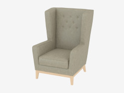 Armchair leather Aurora lounge small