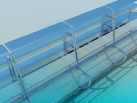 3d модель Линия раздачи для столовой – превью