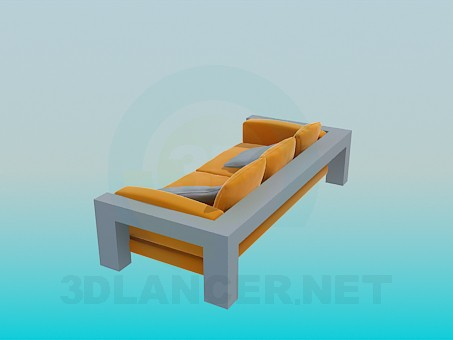 3d modeling Sofa with solid stand model free download