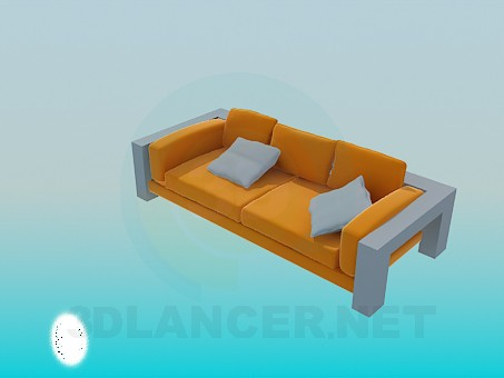 3d model Sofa with solid stand - preview