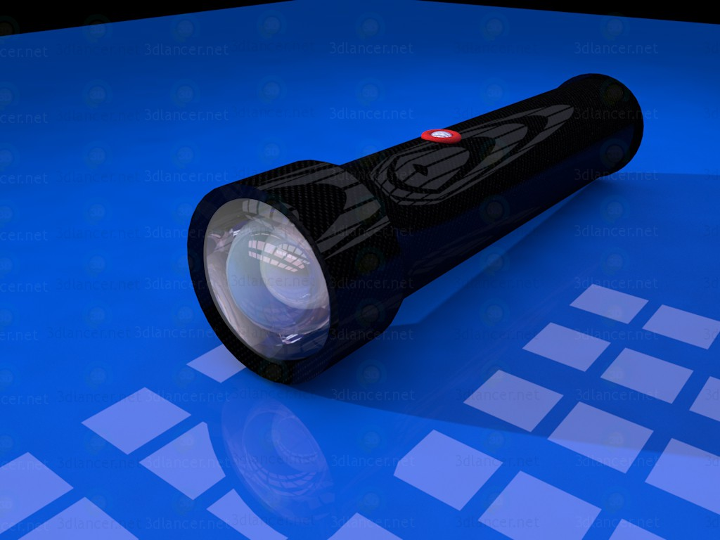 3d modeling Hand Lamp - Flashlight model free download