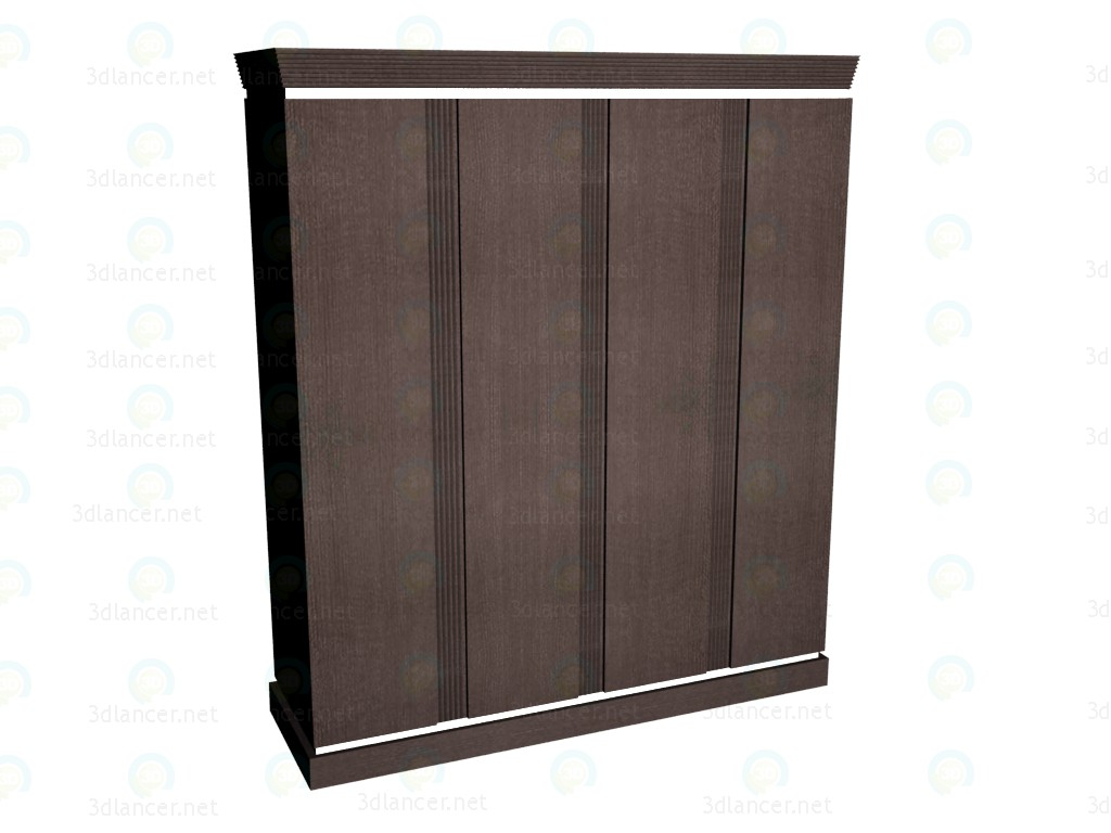 3d model Wardrobe 4-door - preview