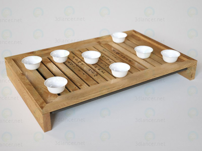 3 डी मॉडल चाय के लिए चीनी तालिका - पूर्वावलोकन