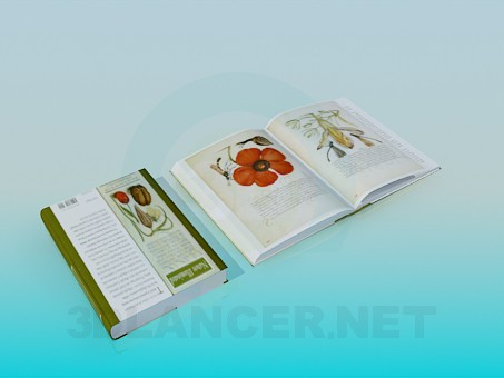 3d modeling Books about Flowers model free download