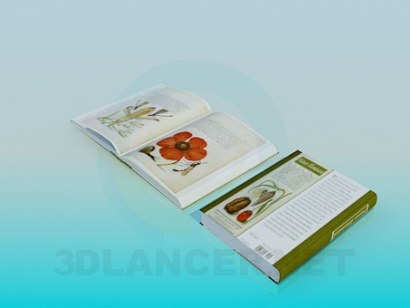 3d model Books about Flowers - preview