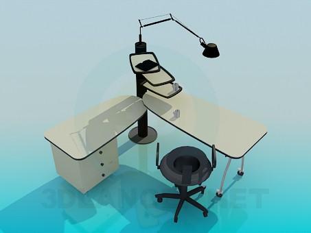 descarga gratuita de 3D modelado modelo Una mesa deslizante