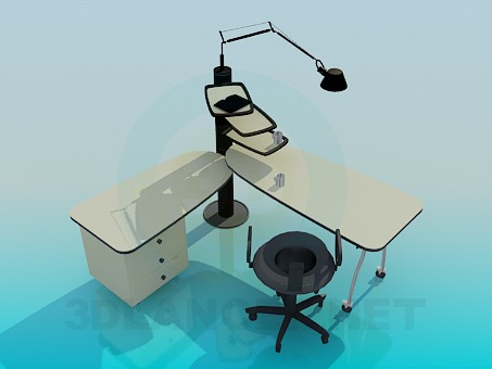 3d model A sliding table - preview
