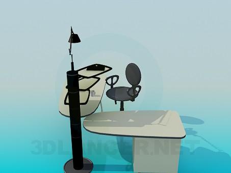 3d модель Письменный раздвижной стол – превью