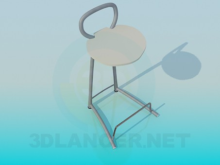 3d modeling Chair with foot stand model free download