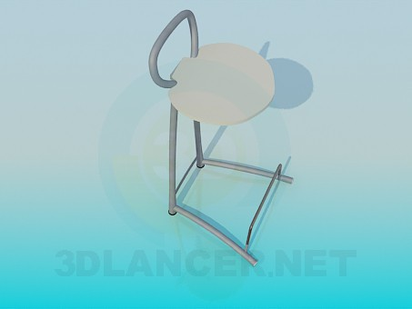 3d model Chair with foot stand - preview