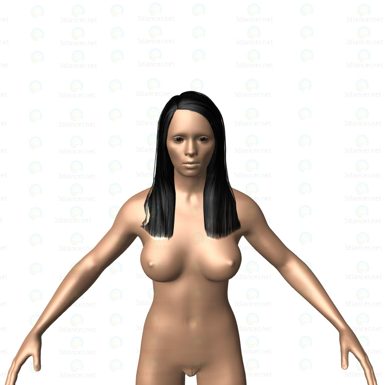 3d Girl Simple Nude model buy - render